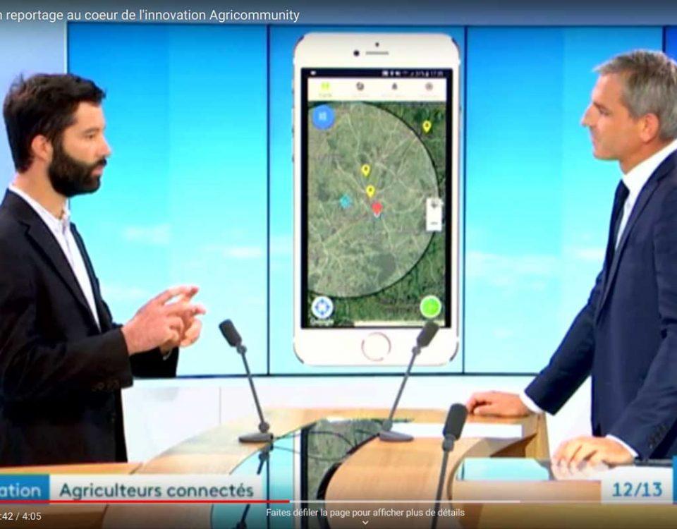 Reportage innovation Agricommunity sur France 3